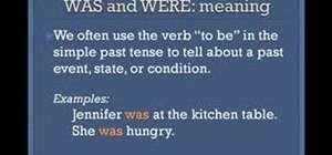 Use the simple past tense in the English language