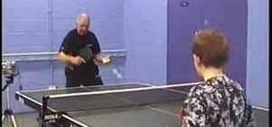 Play a table tennis backhand drive (all levels)