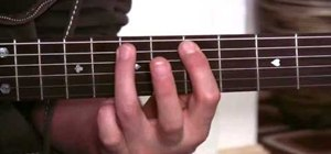 Play a minor pentatonic pattern on acoustic guitar