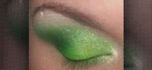 Create a jungle inspired green eye look