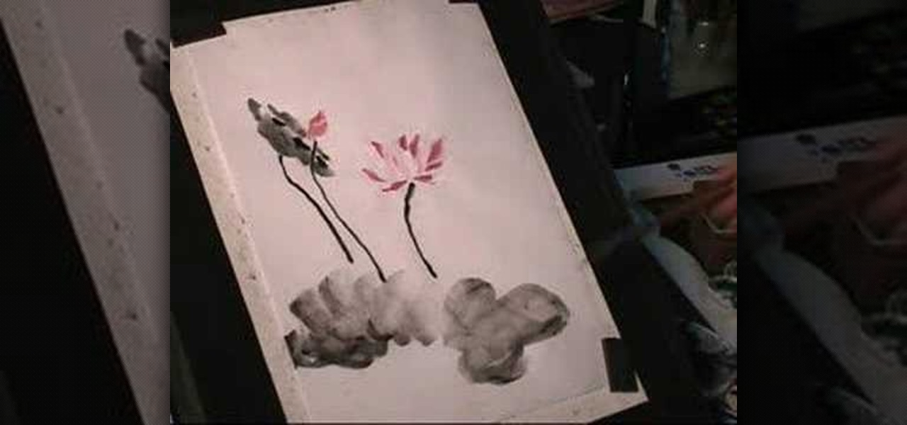 49d5ff021 How to Draw a lotus flower in sumi-e Chinese ink painting « Painting Tips  :: WonderHowTo
