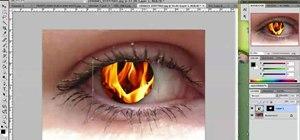 Create a firey iris effect in Adobe Photoshop CS4/CS5
