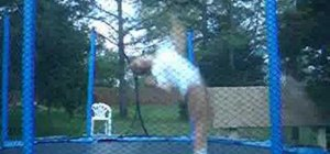 Perform a backflip 360 for trampoline