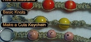 Tie basic macrame knots to make a key chain or bracelet