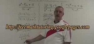 Simplify algebraic fractions