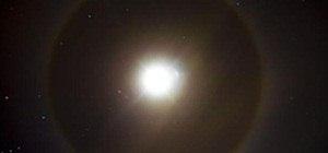 22° Halo Around the Moon