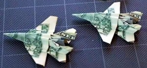 Fold an Origami F-18 Fighter Jet Out of a Dollar Bill