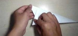 Origami a paper rabbit