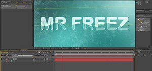 Create animated frozen titles in After Effects