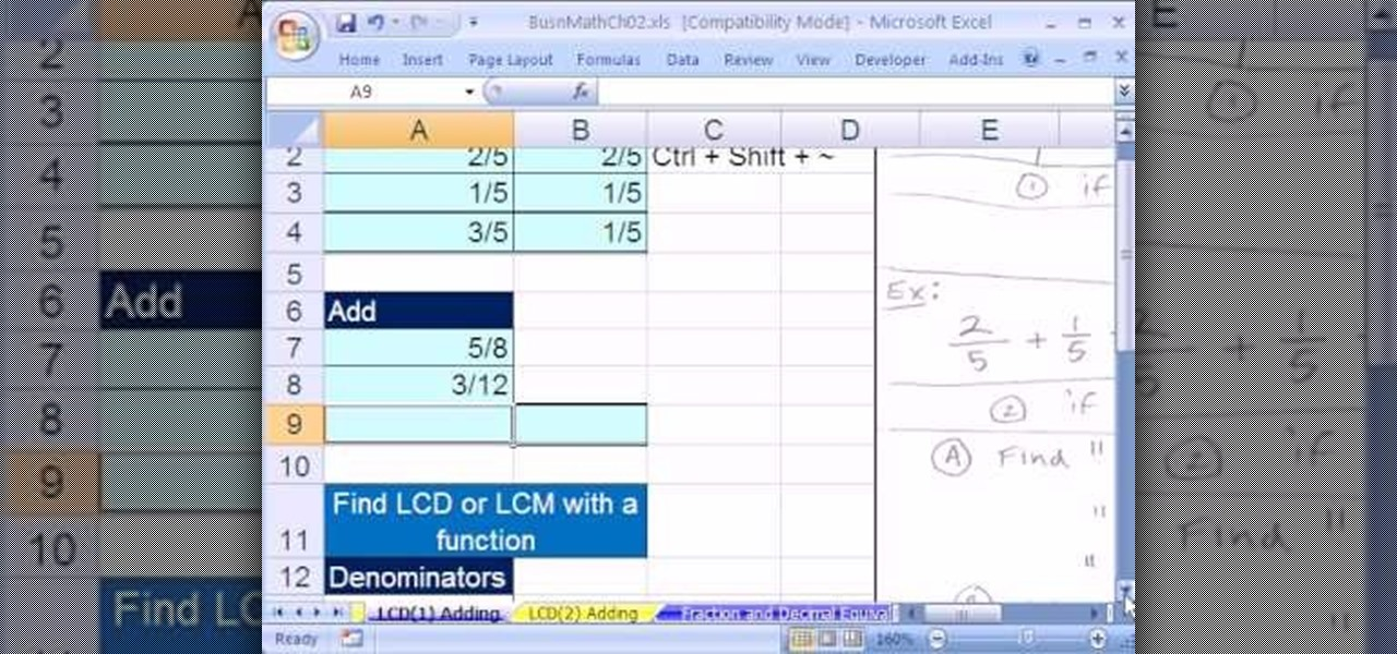 how to add and subtract simple fractions in microsoft