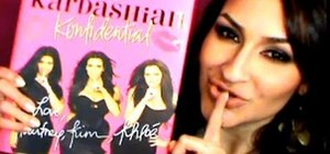 "Create a sexy ""Kardashian Konfidential"" book cover makeup look"