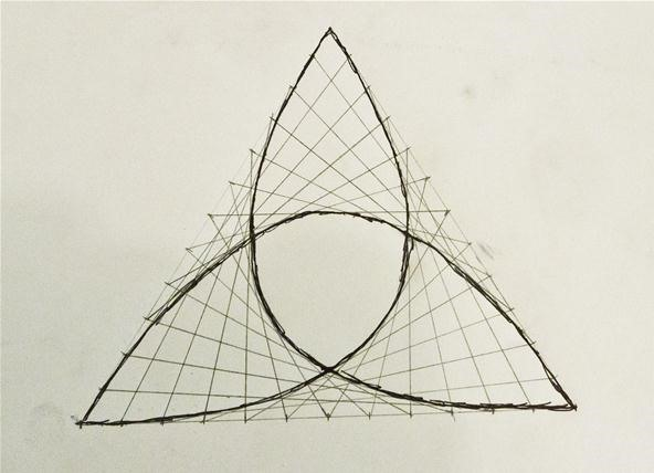 Simple Straight Line Art Designs : How to create parabolic curves using straight lines « math