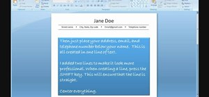 Create a resume using PowerPoint