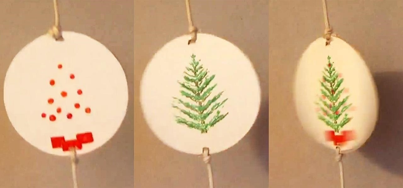 Make a Spinning Optical Illusion Decoration for Christmas