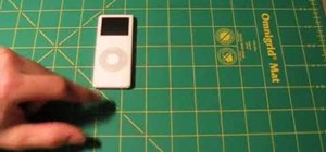 Make an iPod shell case from duct tape