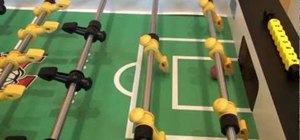 Score goals with aerial shots in foosball