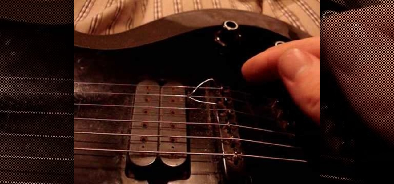how to make an electric guitar sound like a sitar electric guitar wonderhowto. Black Bedroom Furniture Sets. Home Design Ideas