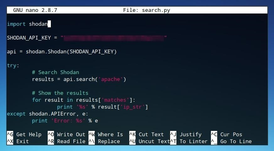 The Hacks of Mr. Robot: How to Use the Shodan API with Python to Automate Scans for Vulnerable Devices