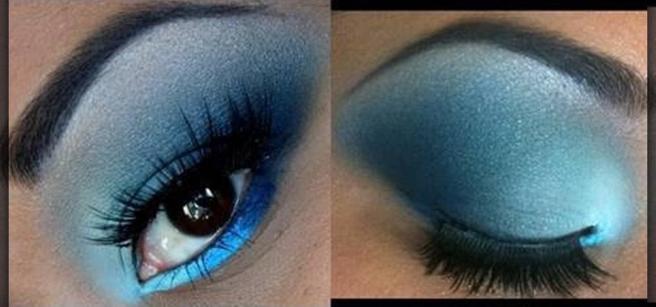 How to Create a bright and dark blue eyeshadow blend « Makeup
