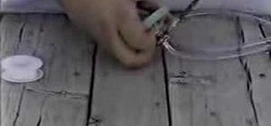 Modify a sprinkler valve for a pneumatic cannon