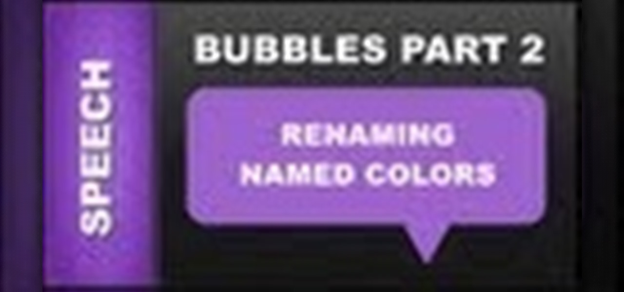 Rename Named Colors & Speech Bubbles Xara Web Designer 7 Premium