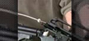 Use barrel lug cleaning stars on an AR-15 rifle