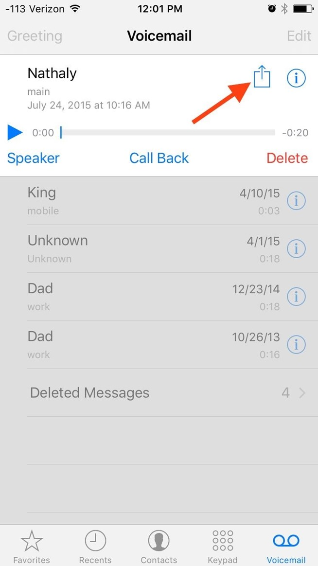 How to Share Voicemails on Your iPhone in iOS 9