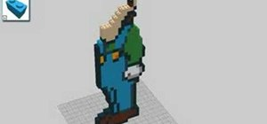 Make Luigi from Mario out of Legos