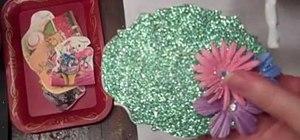 Make adorable glittered Easter boxes