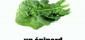 Say the names of vegetables in French easily
