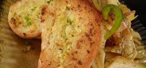 Make garlic bread with oregano