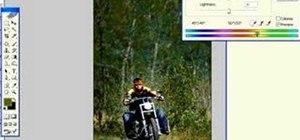 Create a Harley Davidson ad in Photoshop
