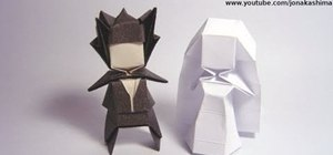 Fold an advanced geometric origami groom