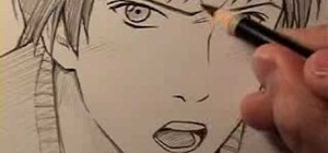 """Draw a """"realistic"""", angry manga face"""