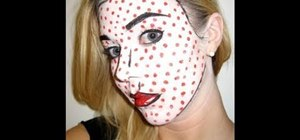 "Create Roy Lichtenstein's ""Crying Girl"" Halloween makeup"