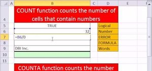 Use the COUNT and COUNTA functions in Microsoft Excel