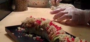 Make a dragon sushi roll