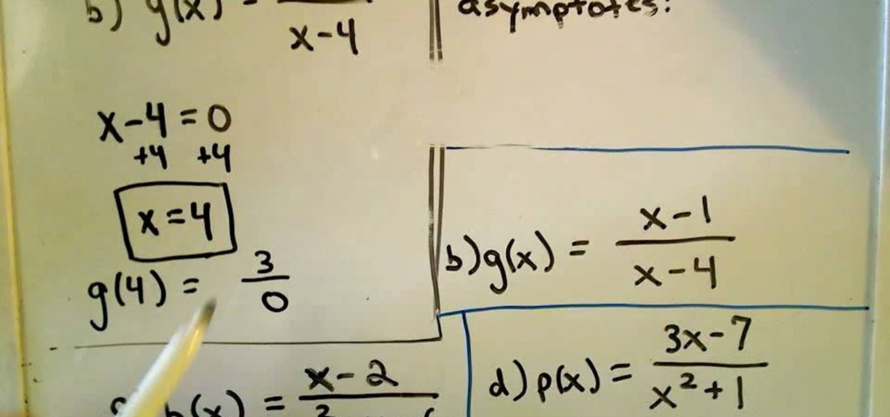 How To Find The Vertical Asymptotes Of Rational Functions