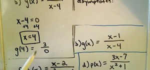 Find the vertical asymptotes of rational functions