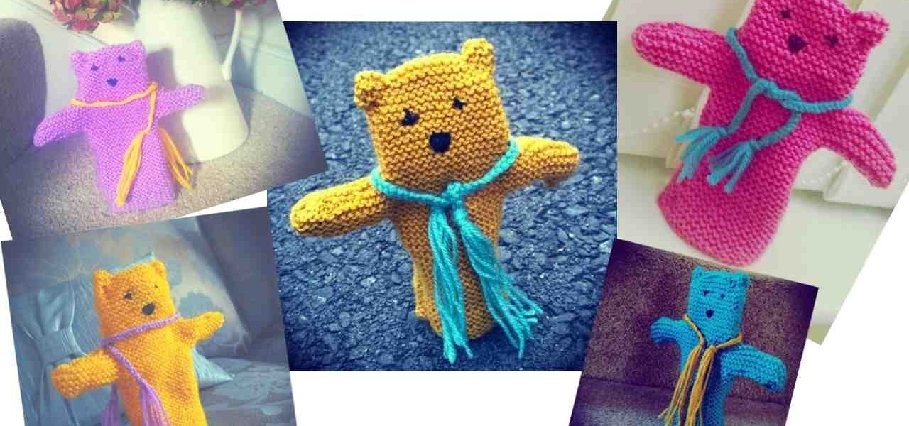 Knit a Teddy Bear Hand Puppet