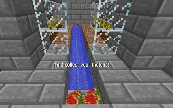 Unlimited Minecraft Melons How To Build A Semiautomatic Melon Farm
