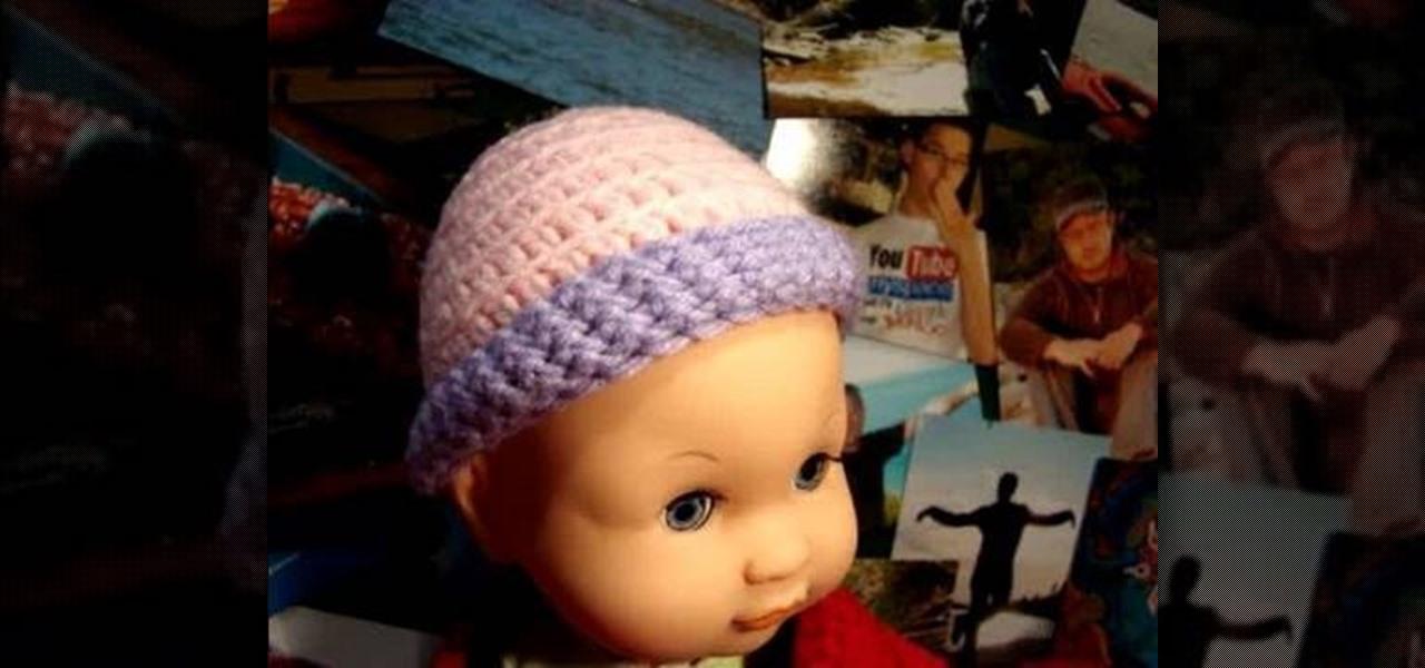 3ebba9bfd73 How to Crochet preemie baby hats « Knitting   Crochet    WonderHowTo