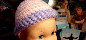 Crochet preemie baby hats