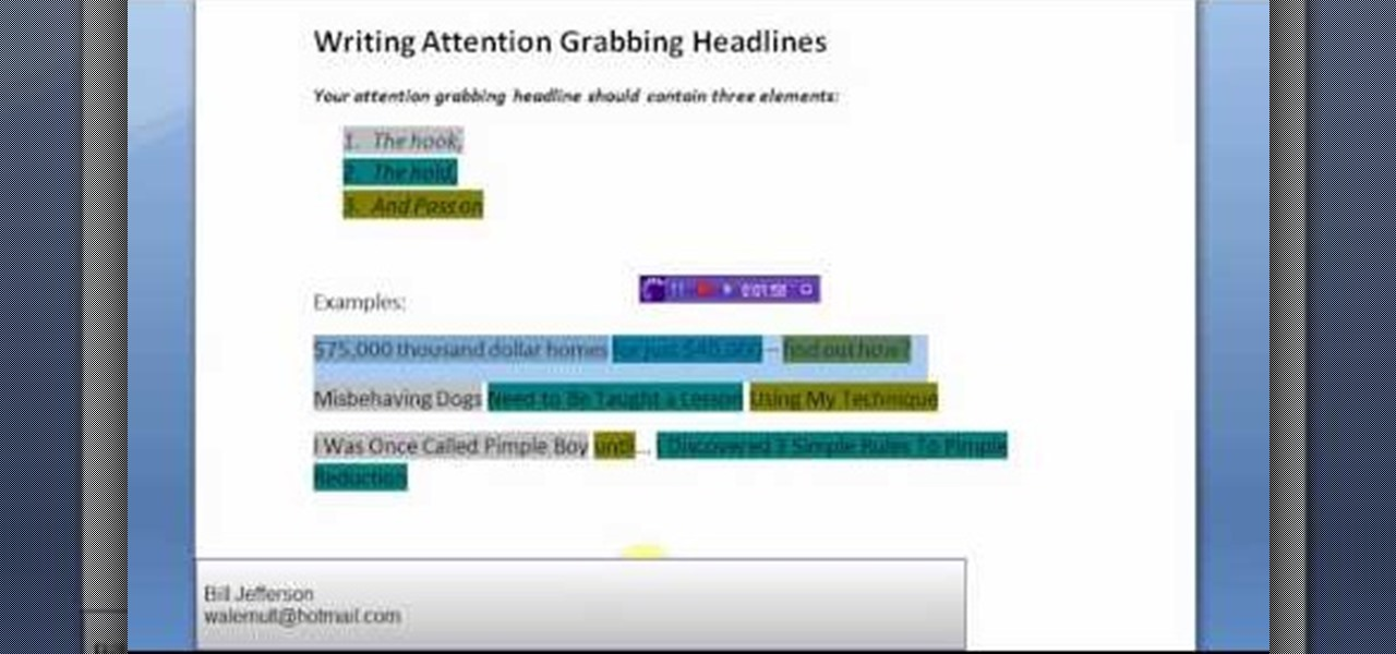 how to write attention grabbing headlines for sales