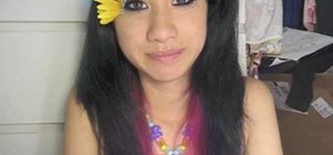 Create a sunflower rave makeup look for EDC