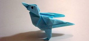 Origami the adorable Twitter bird