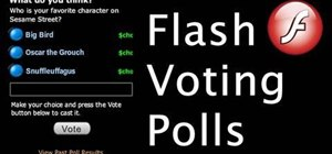 Add a poll to your website and allow users to vote using Adobe Flash