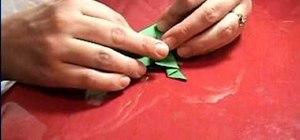Make an origami frog that jumps
