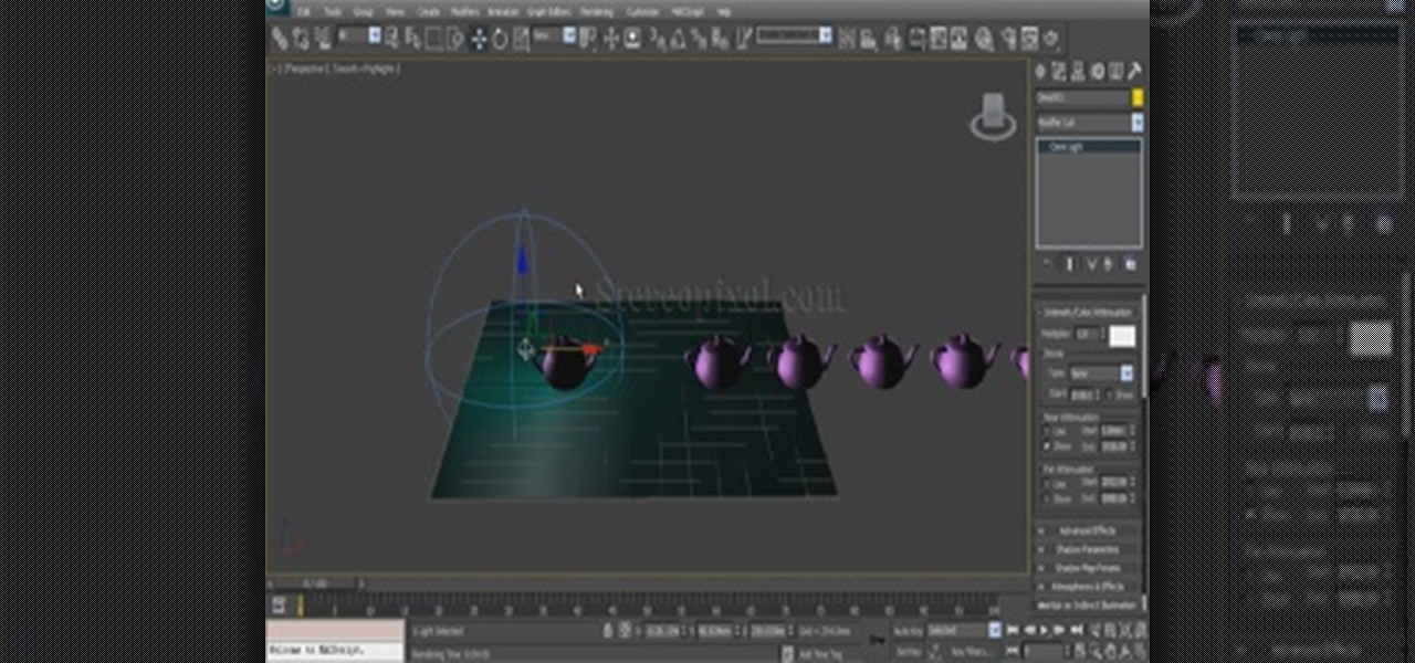 Use Attenuation in Autodesk 3ds Max 2014