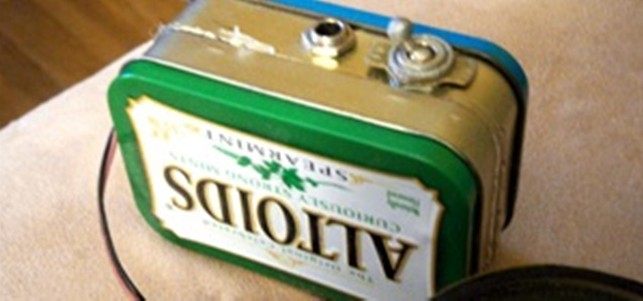 Build Your Own Mini Altoids Guitar Amp for About $5